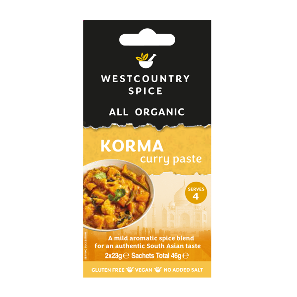 Organic korma curry paste