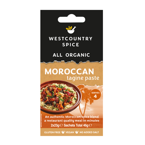 Organic Moroccan tagine paste from Westcountry Spice