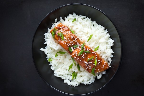 Hoisin Salmon and Rice