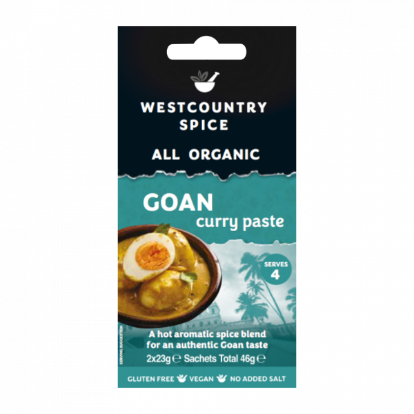 Westcountry Spice Organic Hot Aromatic Goan Curry Paste - double sachet pack image